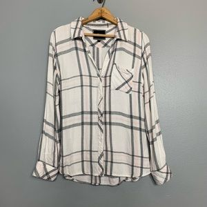 "RAILS | ""hunter"" plaid button front shirt small s"